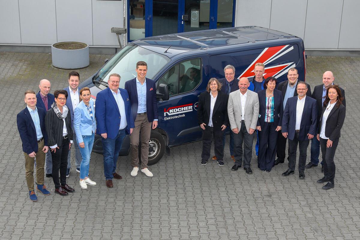 Das Team von Elektrotechnik Kocher in Dortmund.