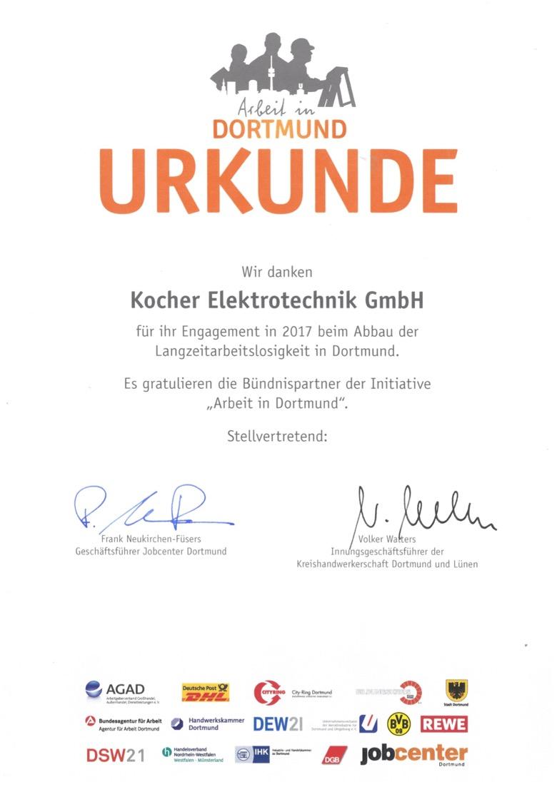 Arbeitgeber, Arbeit und Dortmund, Kocher, Elektrotechnik, Ausbildung, Elektriker, Elektroniker