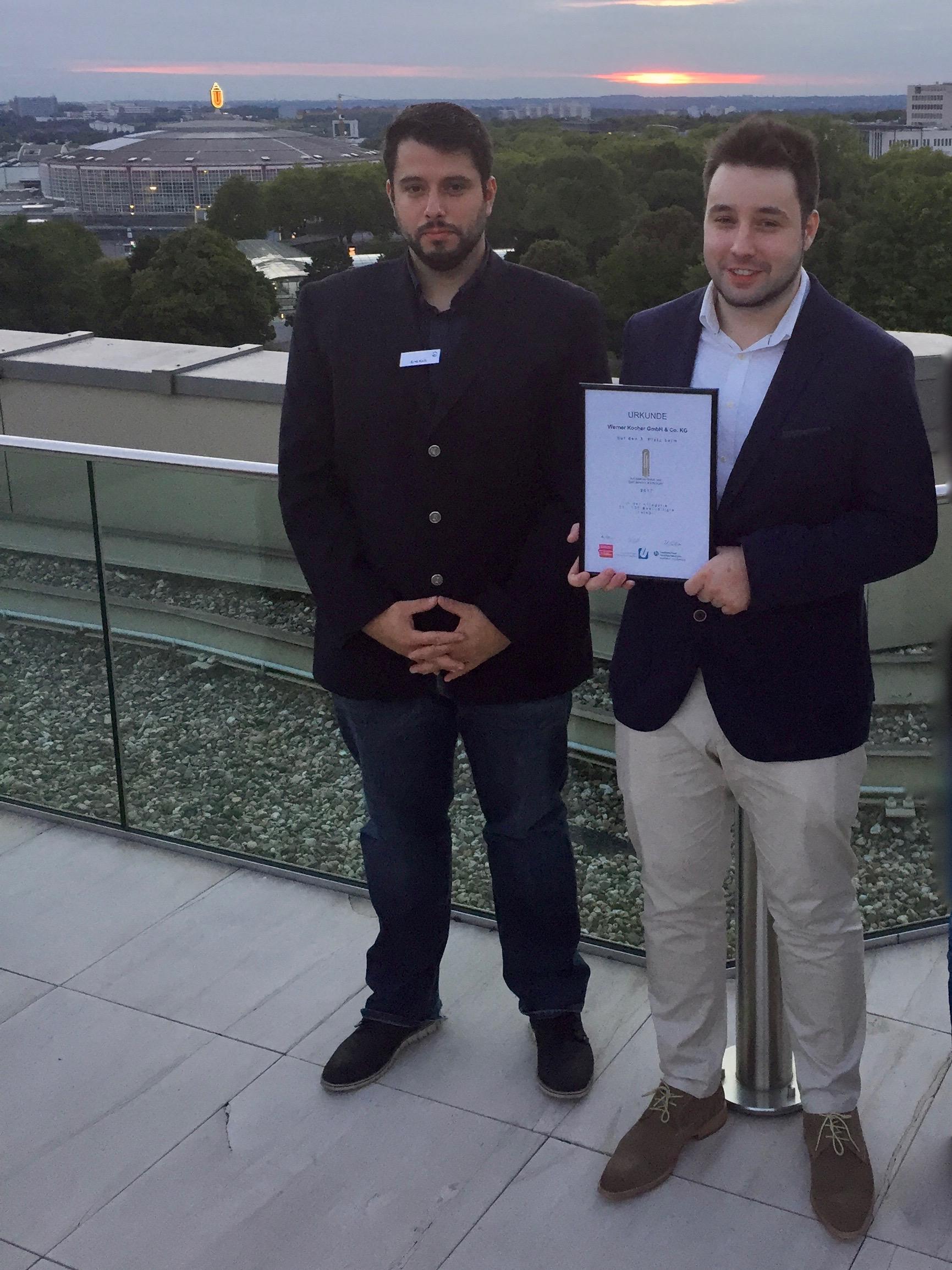 Ausbildungspreis Dortmund Kocher Elektrotechnik Ausbildungsleiter