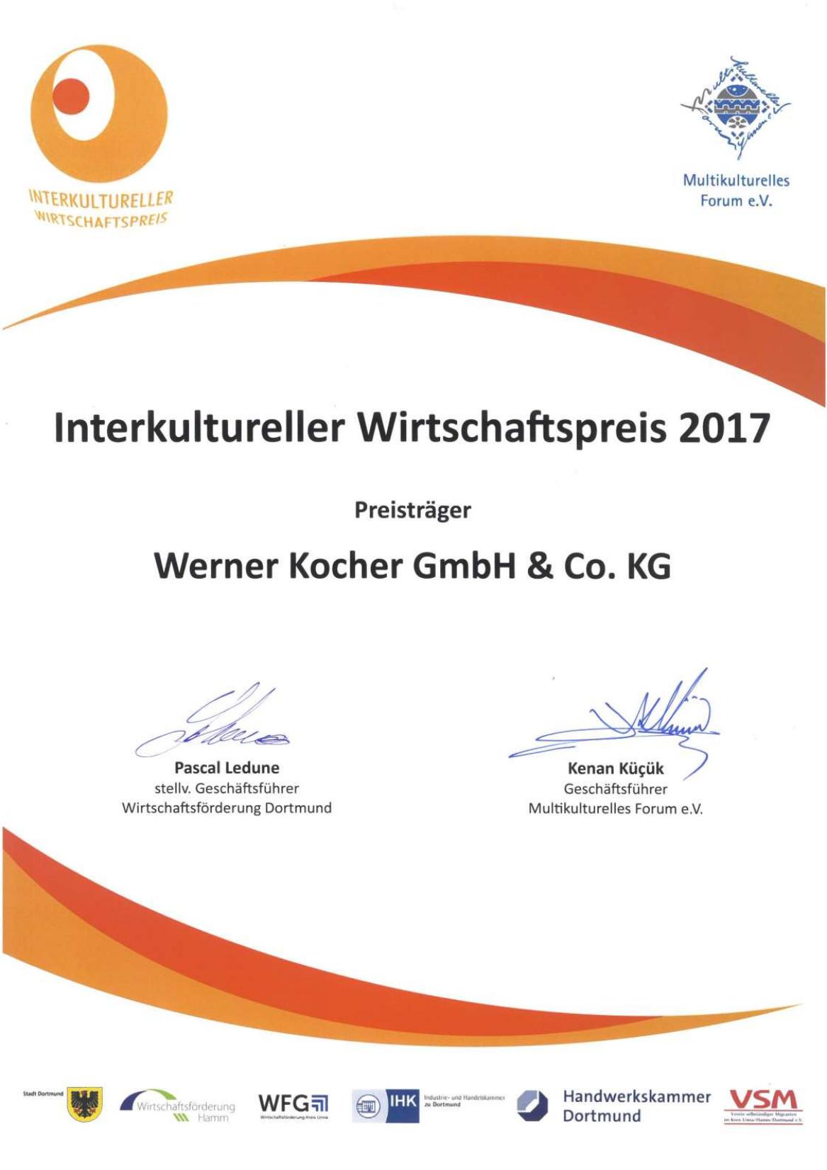Wirtschaftspreis Integration Dortmund Elektrotechnik Kocher