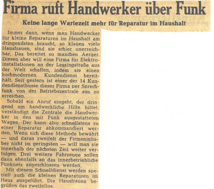 Westfälische Rundschau Kocher Elektrotechnik Dortmund