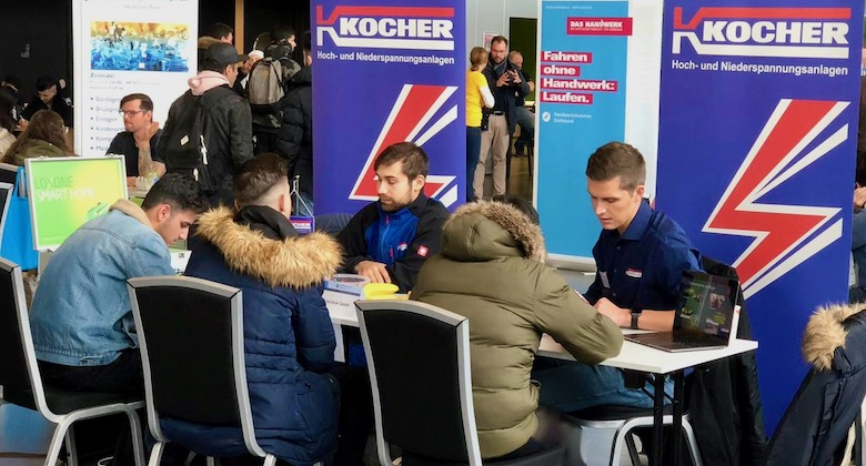 Azubi Speeddating Fußballmuseum Dortmund mit Kocher Elektrotechnik